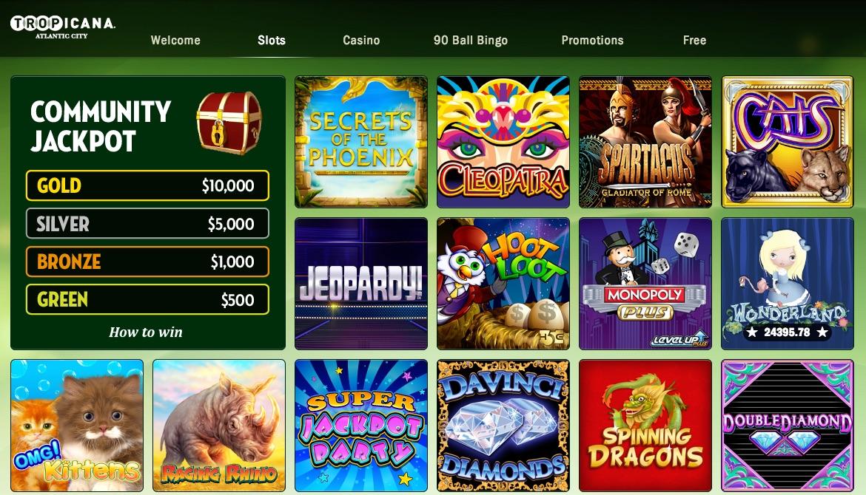 tropicana casino online support