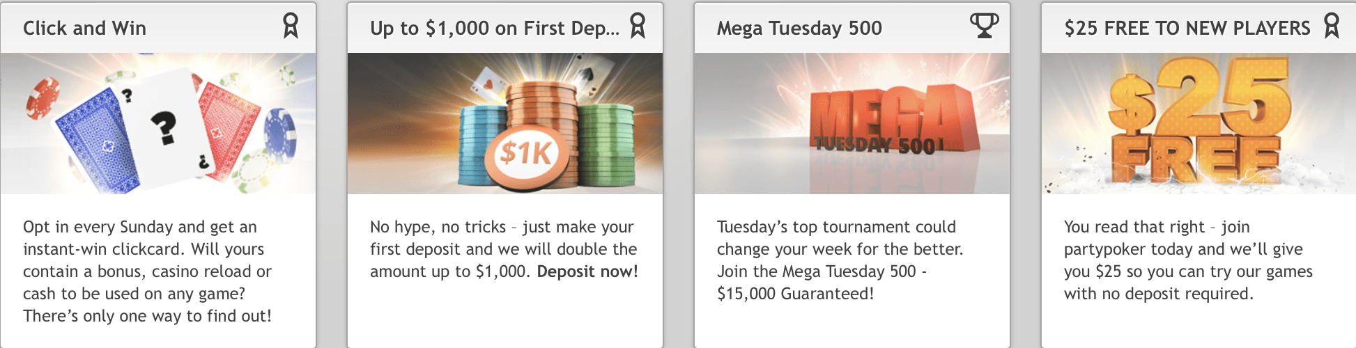 Party Poker NJ Bonuses
