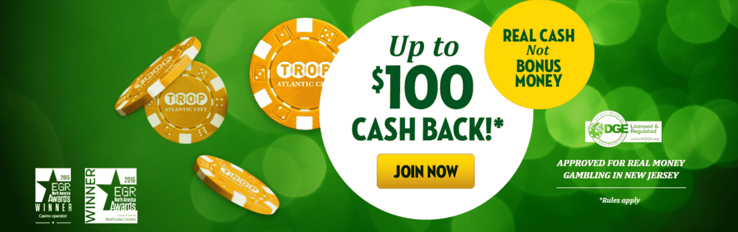 Tropicana online casino review gambling card game crossword clue