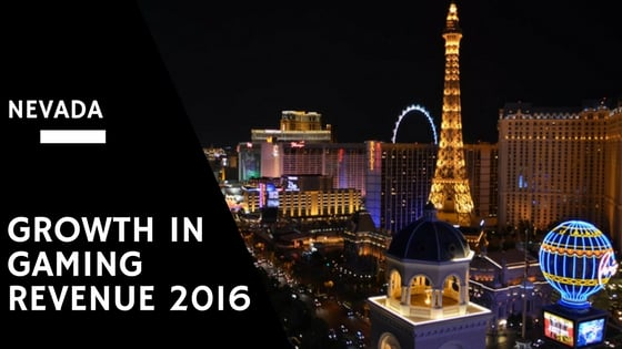Growth in Gaming Revenue for Nevada in 2016