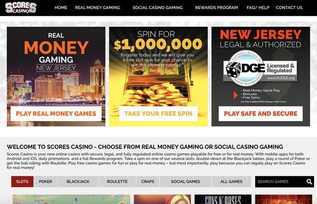 Scores Casino NJ Website Online