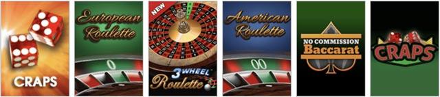 Scores Casino NJ Table Games