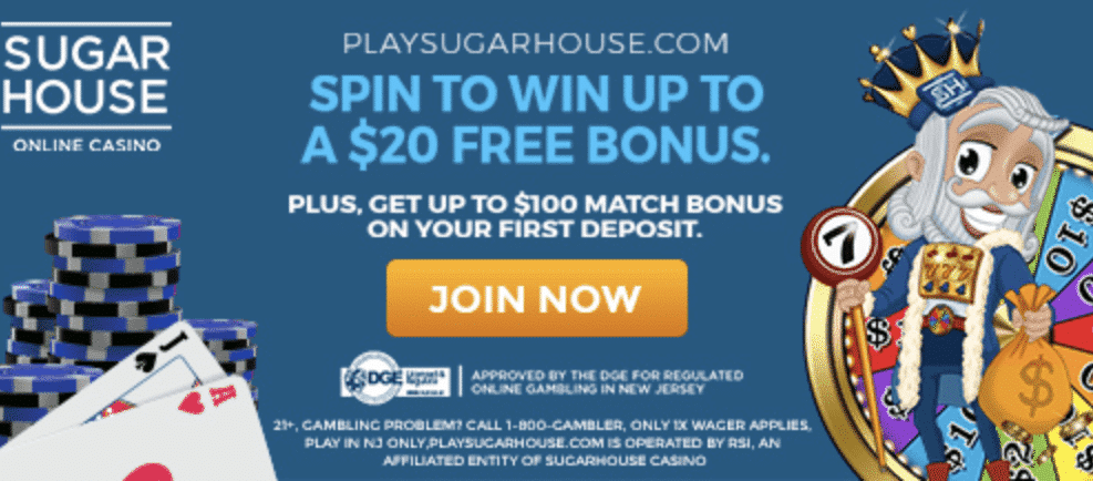 Sugarhouse Online Casino PA Review Promo Code and Games Review