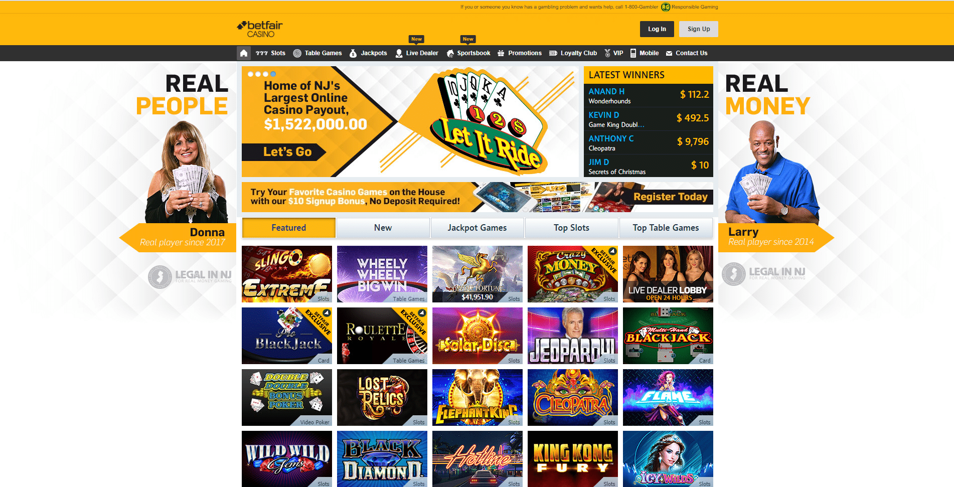 betfair casino 1