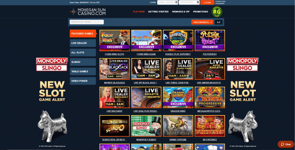 mohegan sun website 1