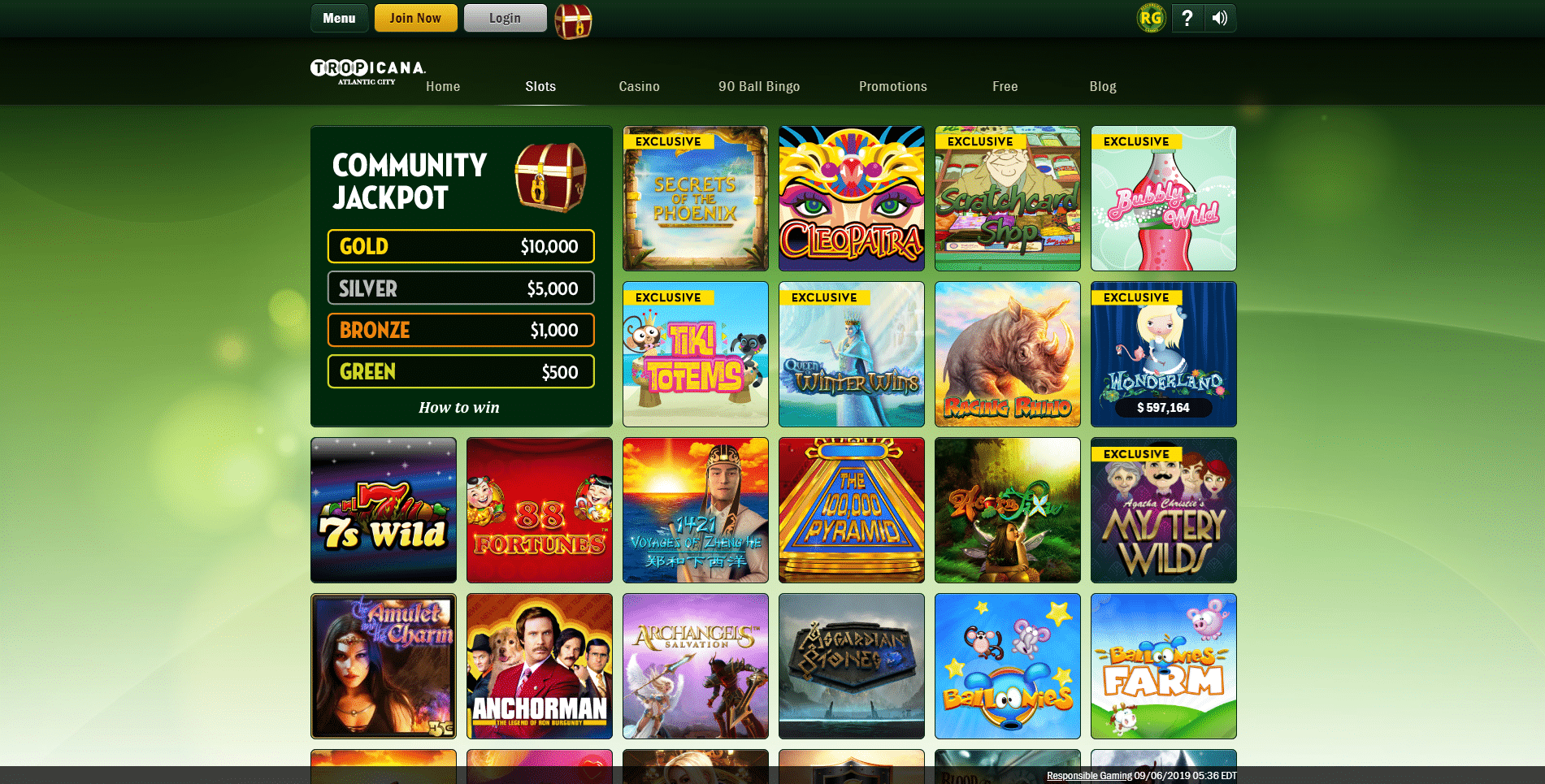 Tropicana Casino Screen 2