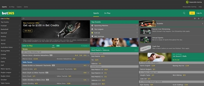 bet365 Sportsbook NJ USA Screenshot
