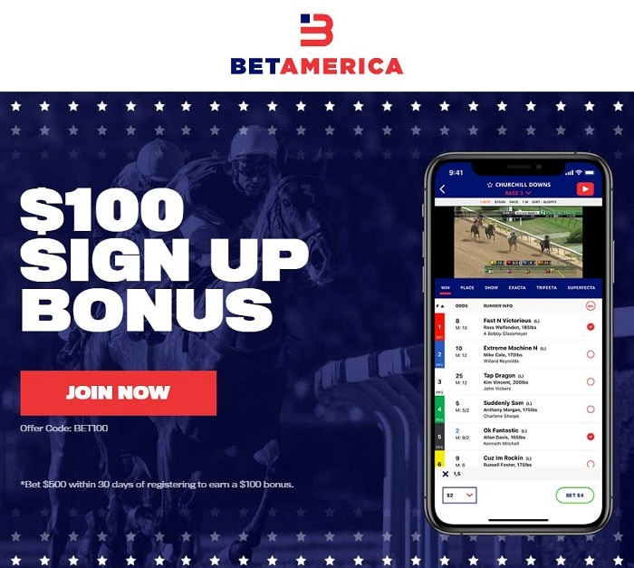 BetAmerica NJ Horse Betting Bonus