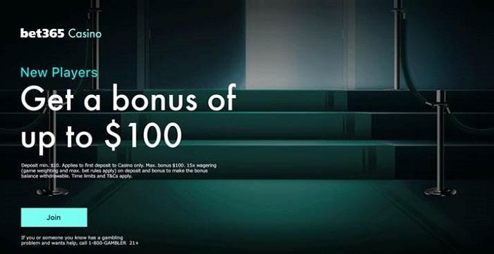 Bet365 Casino USA Welcome Bonus Offer