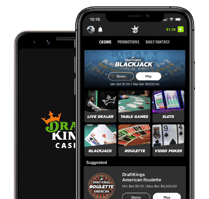 Mobile Compatible Blackjack at DraftKings Casino