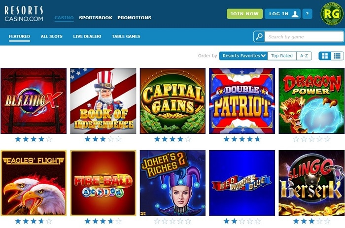 Resorts Online Casino Atlantic City Screenshot