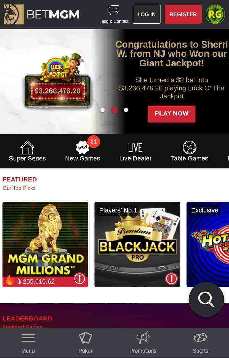 BetMGM Casino NJ Mobile App