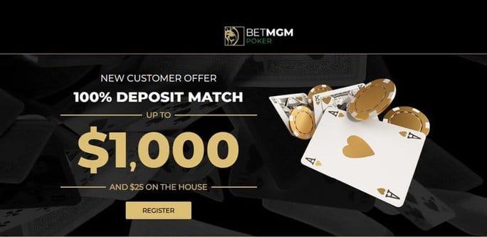 MGM Poker NJ Welcome Bonus