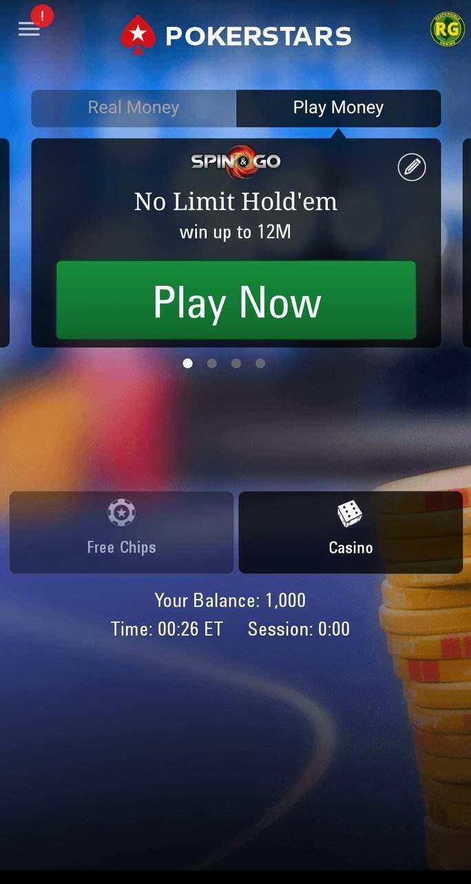 PokerStars NJ Mobile App Screenshot