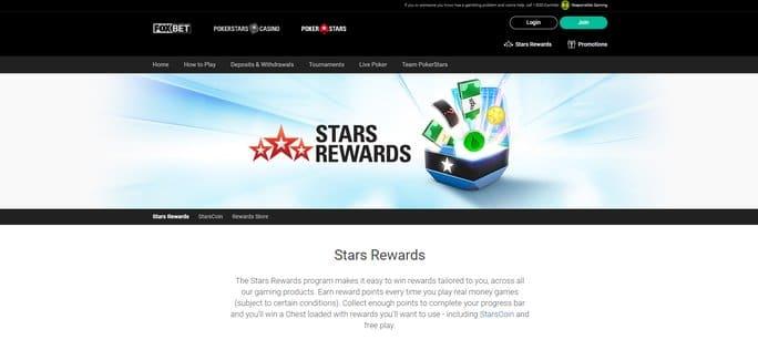 PokerStars NJ Stars Rewards