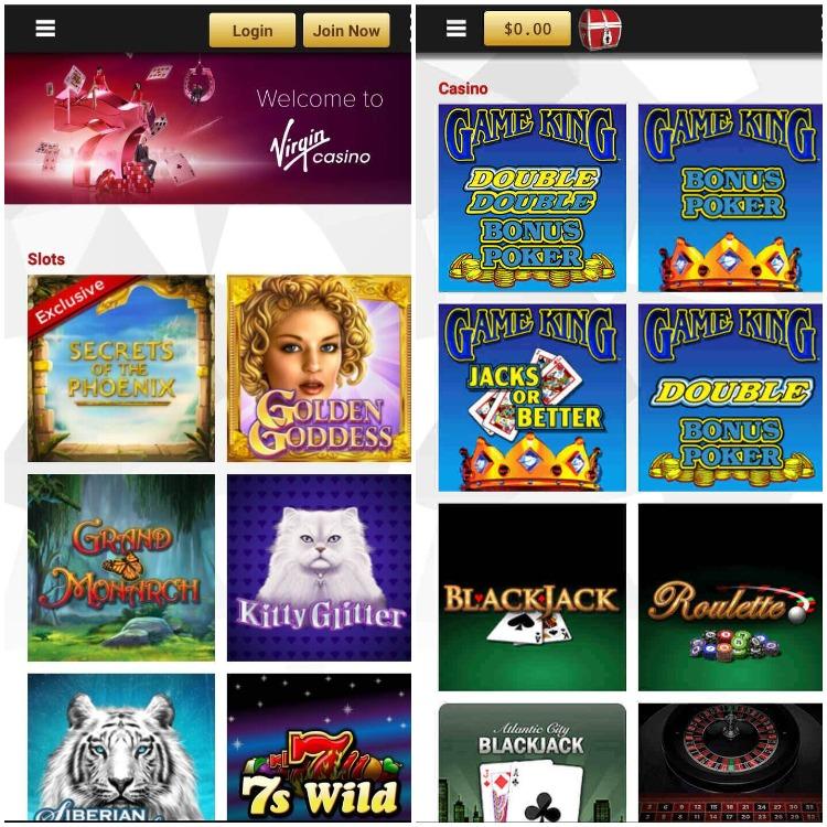 Virgin Casino NJ Screenshot Mobile App