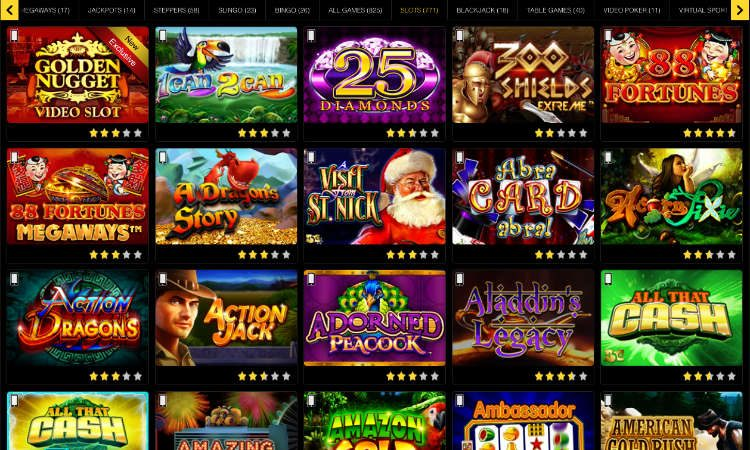 golden nugget online casino slots offer