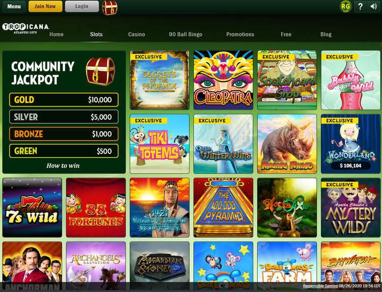 Tropicana Casino NJ Slots